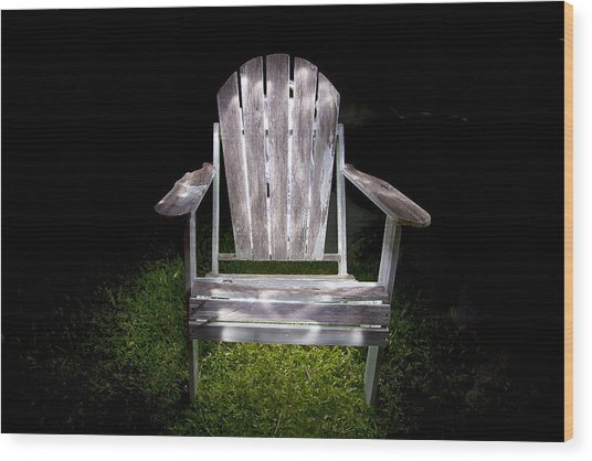 Adirondack Chair Painted With Light Wood Print