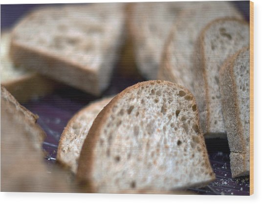 Take This Bread And Eat It Wood Print