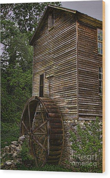 Tall Mill Wood Print