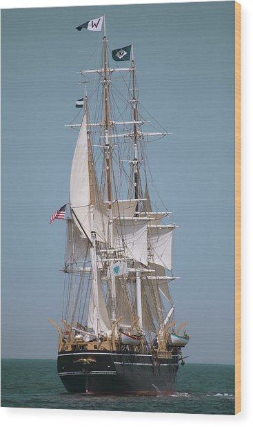 Tall Ship Charles W Morgan Wood Print by Dapixara Art