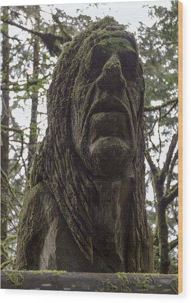 Tall Tales Bust Wood Print