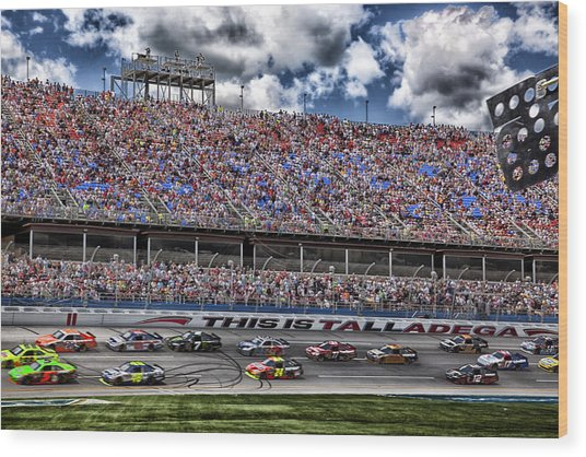 Talladega Superspeedway In Alabama Wood Print