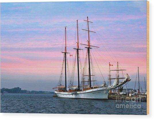 Tallship Empire Sandy Wood Print
