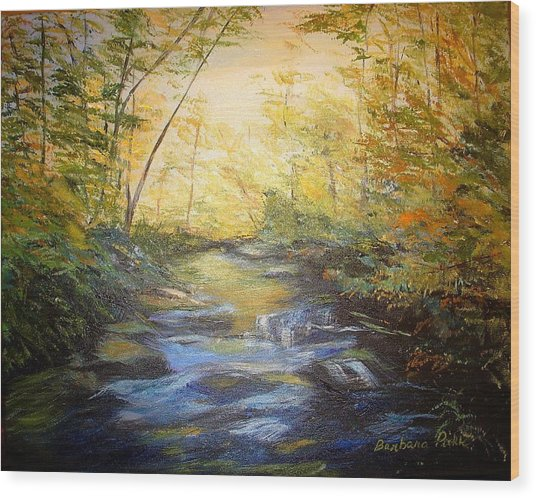 Tallulah River Color Wood Print by Barbara Pirkle