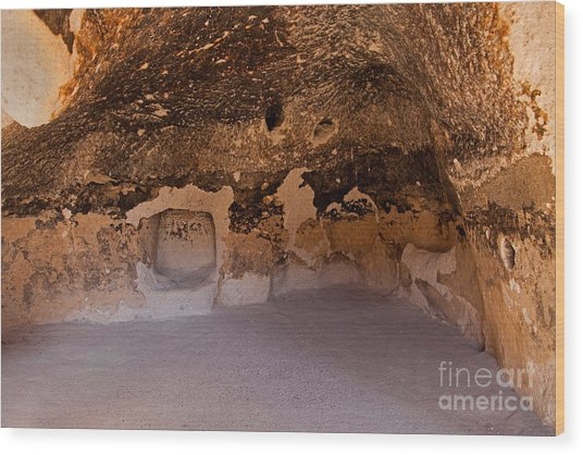 Talus Housefront Room Bandelier National Monument Wood Print