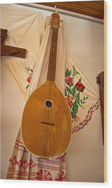 Tamburica Croatian Traditional Music Instrument Wood Print