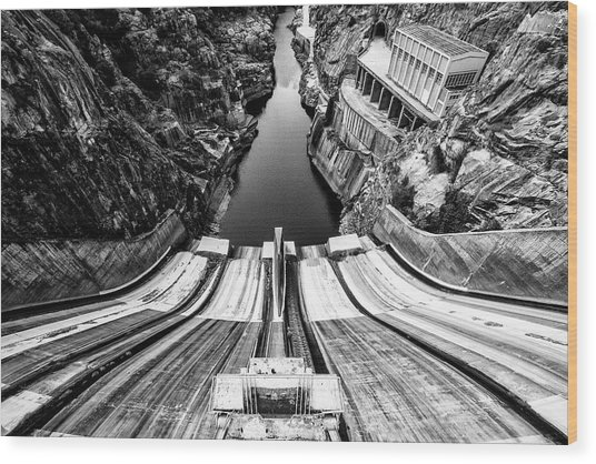 Tame The River Wood Print