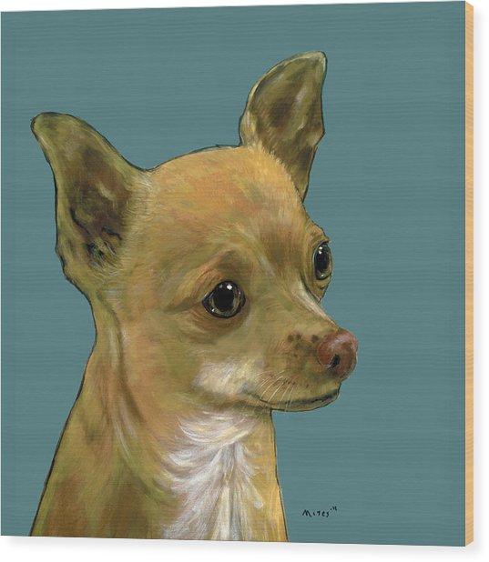 Tan Chihuahua Wood Print