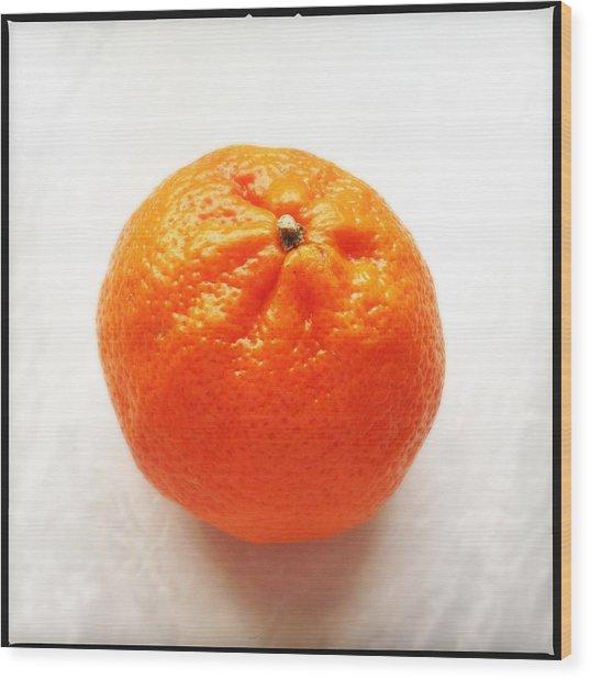 Tangerine Wood Print