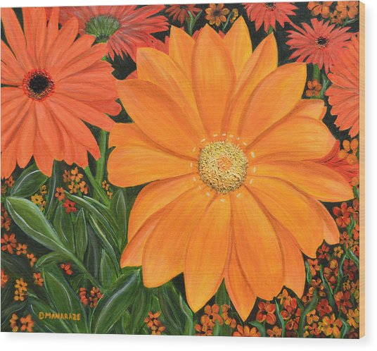 Tangerine Punch Wood Print