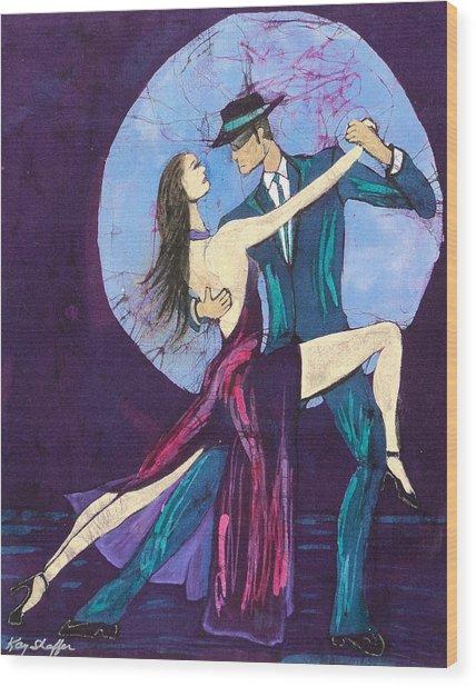 Tango Dancers Wood Print