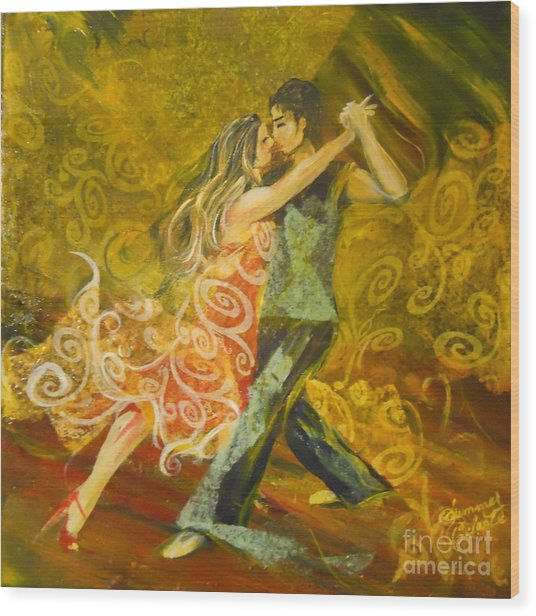 Tango Flow Wood Print by Summer Celeste
