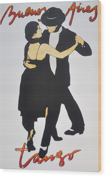Tango In Buenos Aires Wood Print