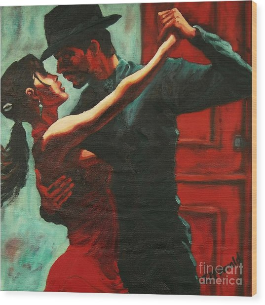 Tango Intensity Wood Print