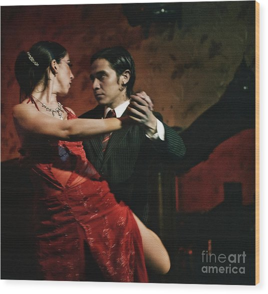 Tango - The Passion Wood Print