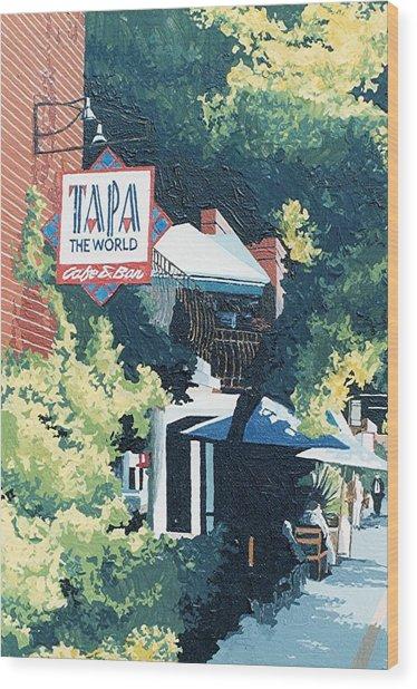 Tapa The World Wood Print by Paul Guyer