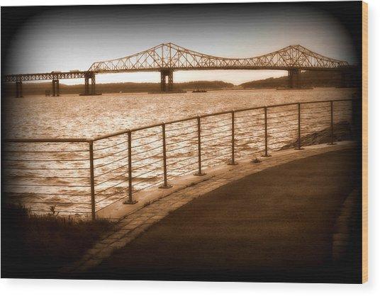 Tappan Zee Bridge Ix Wood Print