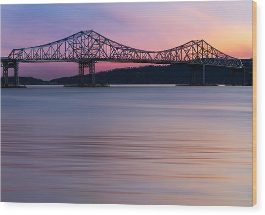Tappan Zee Bridge Sunset Wood Print