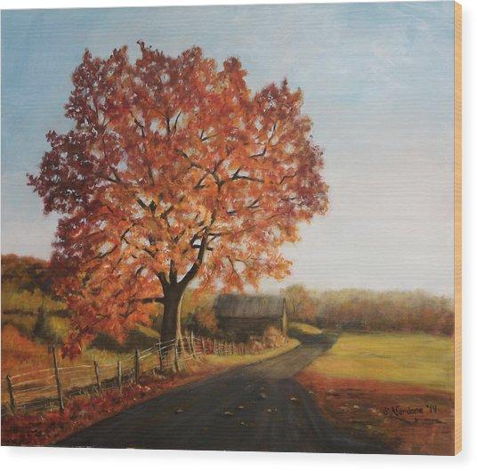 Taras Golden Tree Wood Print