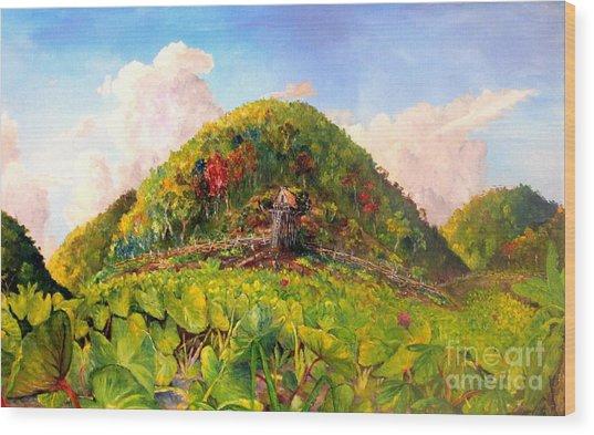 Taro Garden Of Papua Wood Print