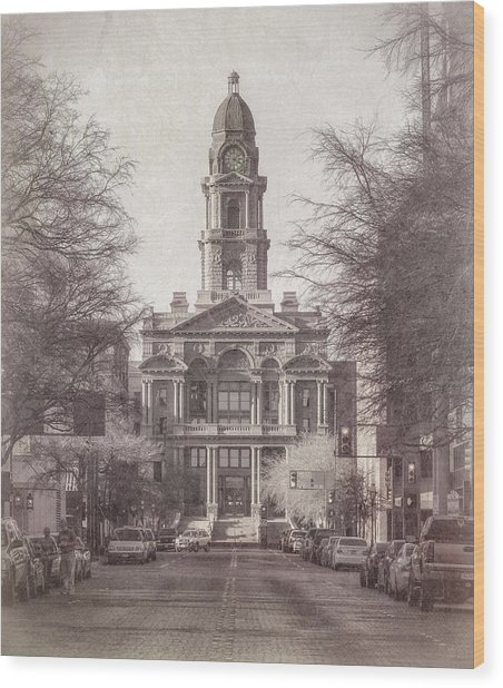 Tarrant County Courthouse Wood Print