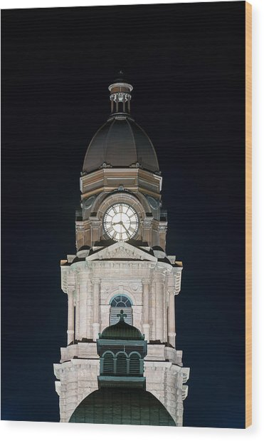 Tarrant County Courthouse V2 020815 Wood Print