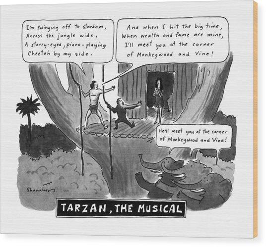 Tarzan The Musical Wood Print