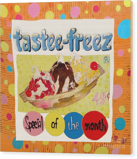 Tastee Freez Wood Print