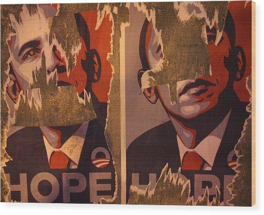 Tattered Hope Wood Print