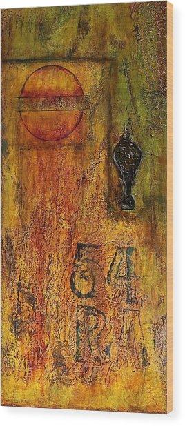 Tattered Wall  Wood Print