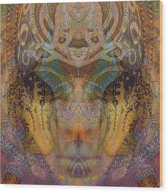 Tattoo Mask Wood Print