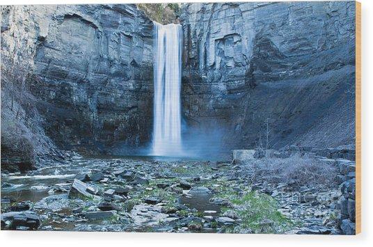 Taughannock Falls In Spring Wood Print