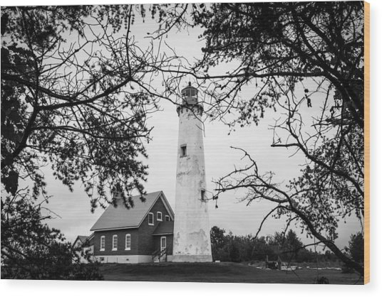 Tawas Point Lighthouse Wood Print
