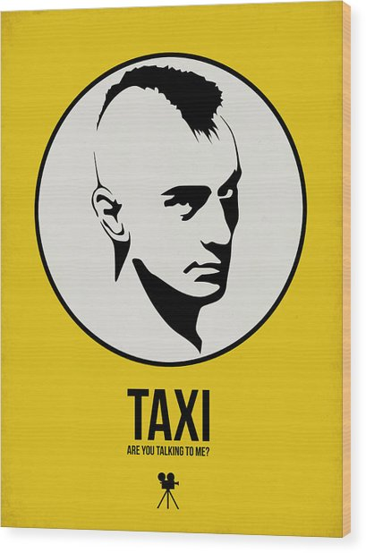 Taxi Poster 1 Wood Print