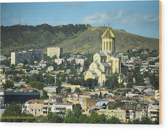 Tbilisi Wood Print by Andrey Tovstyzhenko