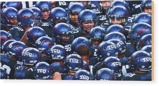 Tcu Horned Frogs Wood Print