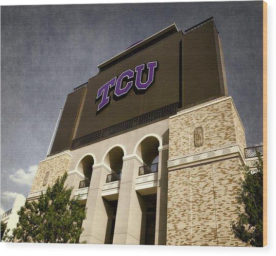 Tcu Stadium Entrance Wood Print