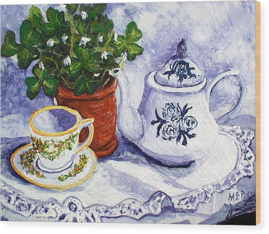 Tea For Nancy Wood Print