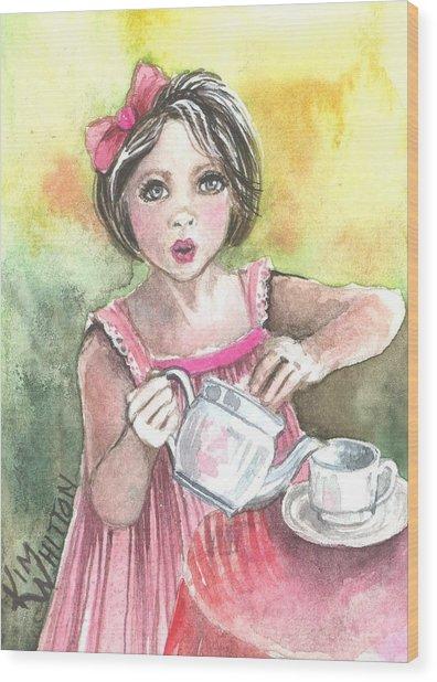 Tea Granny Wood Print