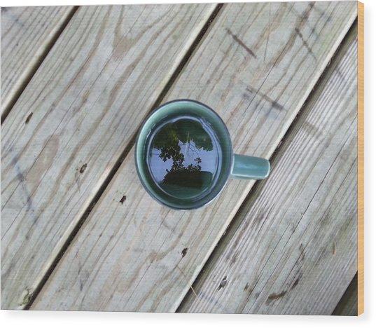 Tea Leaves Wood Print