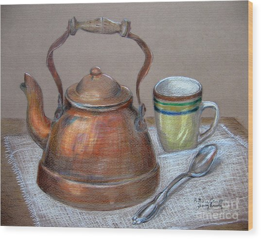 Tea Pot Wood Print