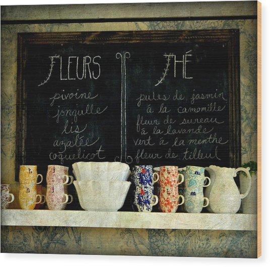 Tea Time Wood Print by Anne McDonald