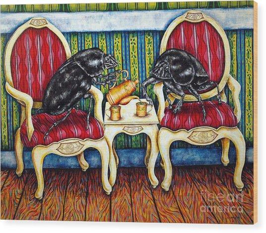 Tea Time Wood Print by Jay  Schmetz