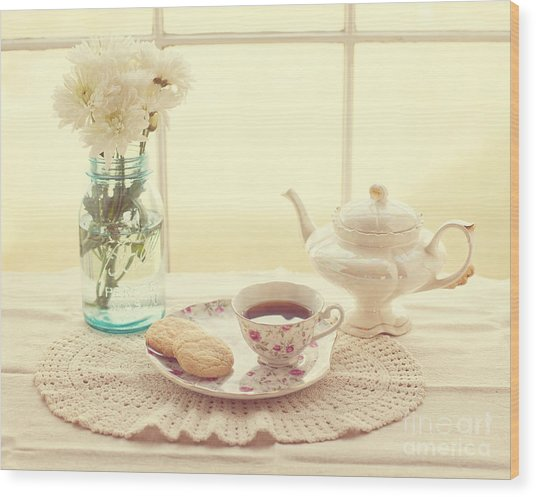 Tea Time Wood Print