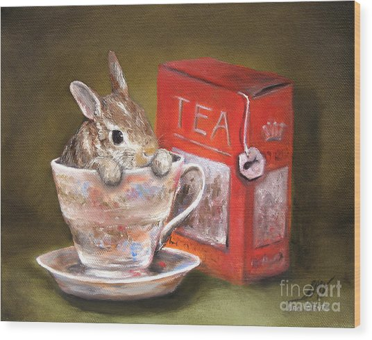 Tea Time Wood Print by Stella Violano