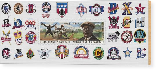 Teams Of The Negro Leagues Wood Print by Mike Baltzgar