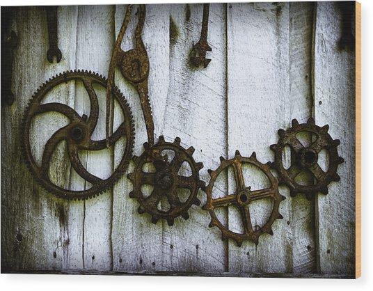 Teamwork Mechanism Wood Print