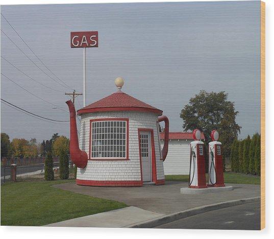 Teapot Dome Gas Station 2 Wood Print