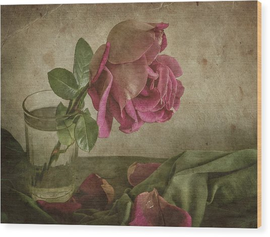 Tear Of Rose Wood Print