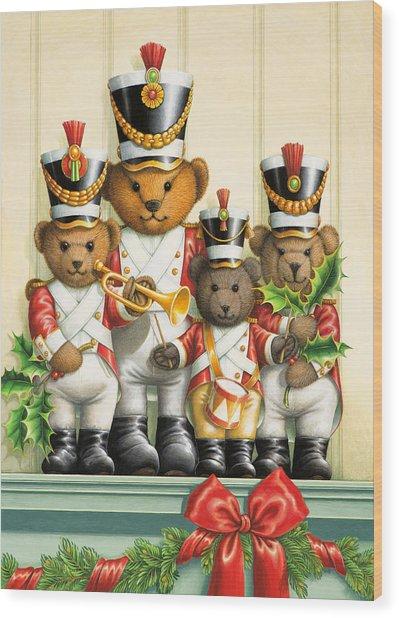 Teddy Bear Band Wood Print